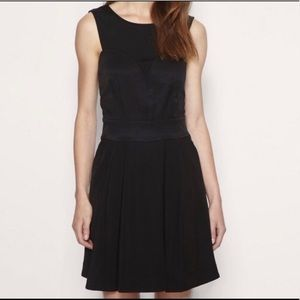 Reiss Saffi Black Open Back Dress